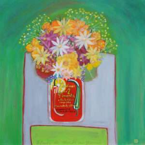 Fleurs du Marche Hand painted Acrylic painting by John Birch